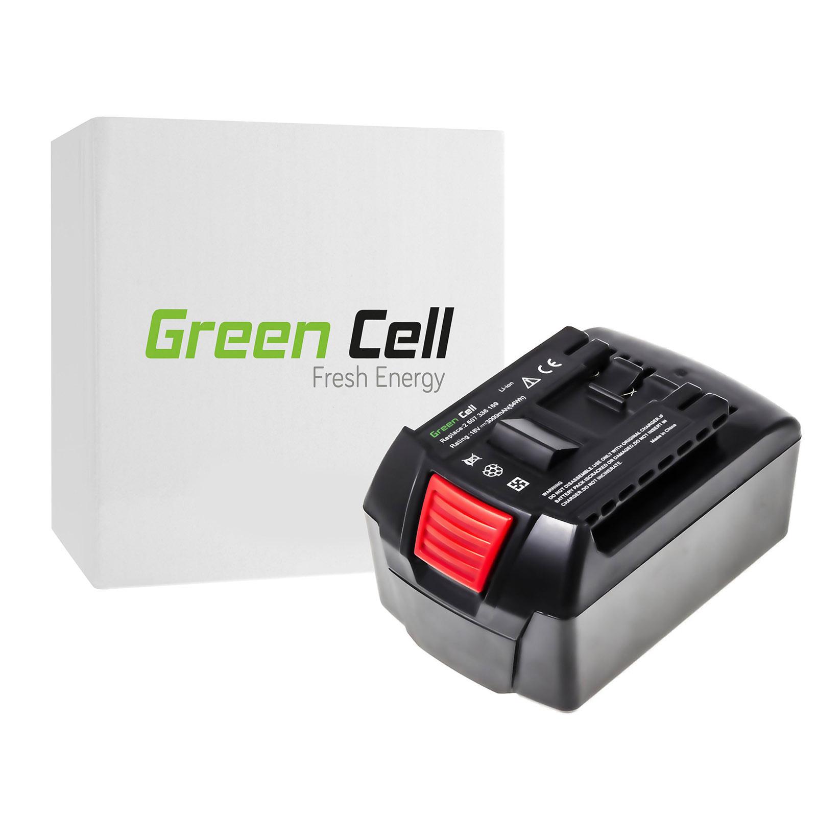 green cell power tool cordless battery for bosch gsr 18 v li 3 0ah 18v ebay. Black Bedroom Furniture Sets. Home Design Ideas